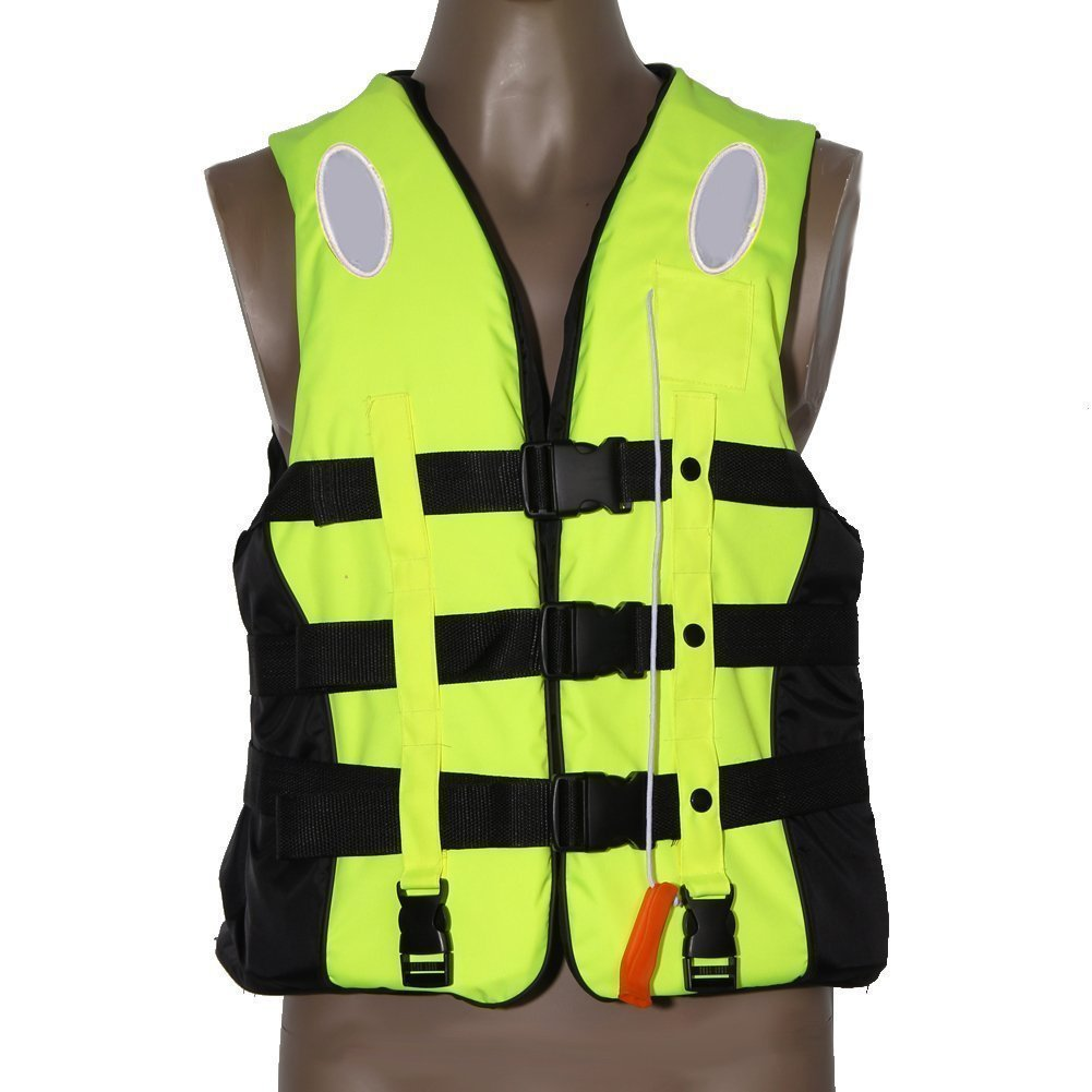 Yosoo Life Jacket Vest for Childrens and Adults, Universal Swimming, Boating, Skiing & Kayaking Vest, with Whistle