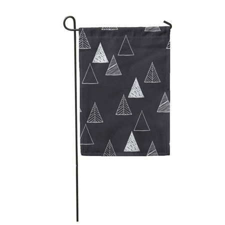NUDECOR Gray Scandinavian Triangles Pattern Abstract and Forest Garden Flag Decorative Flag House Banner 12x18 inch - image 1 de 1