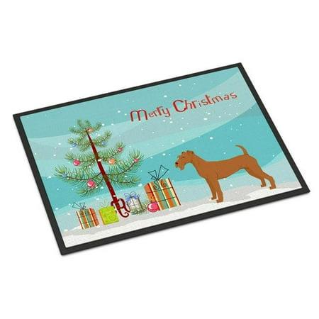 Carolines Treasures CK3546JMAT 24 x 36 in. Irish Terrier Christmas Tree Indoor or Outdoor Mat - image 1 de 1