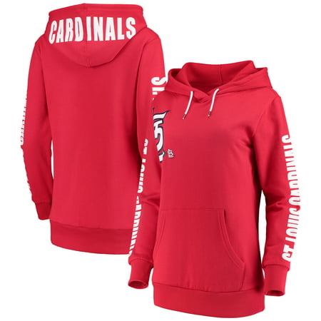 St. Louis Cardinals G-III 4Her by Carl Banks Women's 12th Inning Pullover Hoodie - Red - Louis Womens Sweatshirt