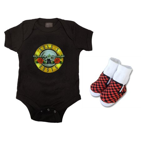 Guns N Roses Logo Bodysuit and Baby Socks Set