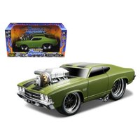 Maisto 1:24 Scale 1969 Chevrolet Chevelle Green Muscle Machines Diecast Model Car