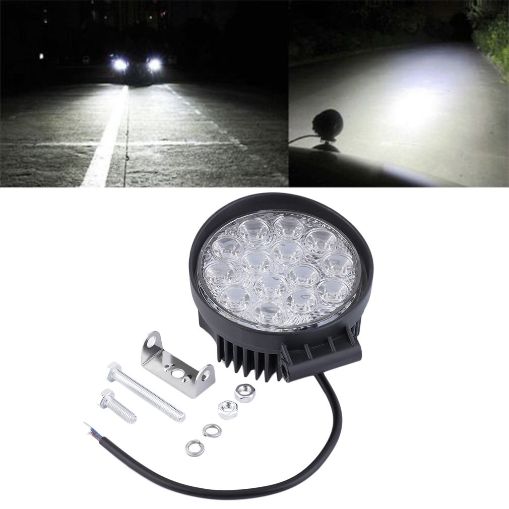 Waterproof Shockproof 42W Off Road Light Round LED Work Light LED Lamp For Car Truck Vehicles Auto Boat