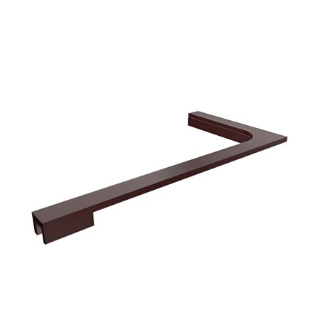 Support Oil Rubbed Bronze - 18 in. L-Bar Support Bracket (Right Wall Installation) for 10mm (3/8 in.) Glass in Oil Rubbed Bronze