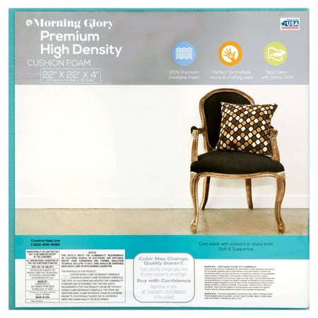 Morning Glory Premium High Density Cushion Foam, 22