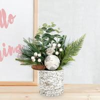 Mainstays Artificial Evergreen and Birch Decorative Centerpiece