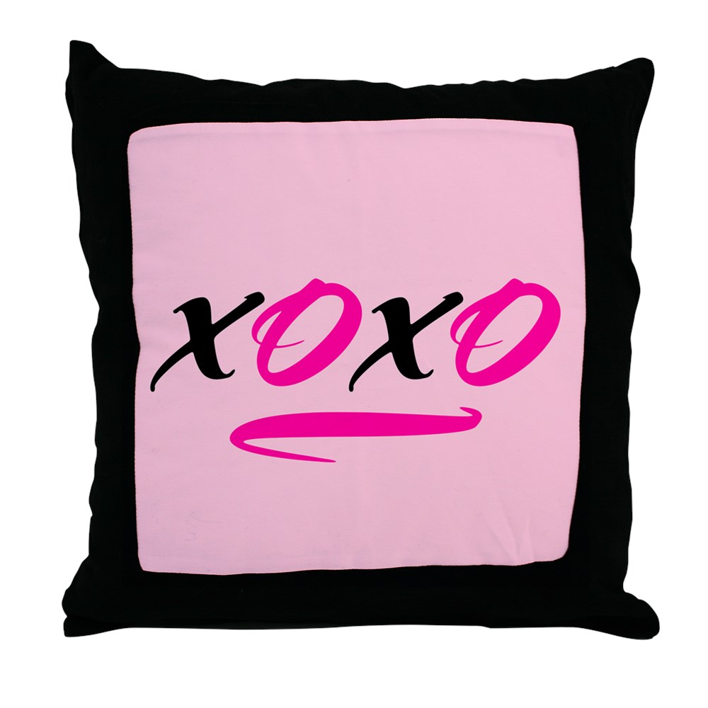 "CafePress XOXO Decor Throw Pillow (18""x18"") by"