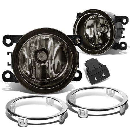 For 2012 to 2015 Honda Pilot Pair Front Bumper Driving Fog Light / Lamp+Bezel+Switch Smoked Lens 13 14 Left+Right (Pilot Driving Lights)