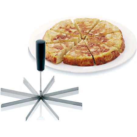 Paderno World Cuisine Stainless Steel 8 Slice Cake Cutter/ Slicer, 14
