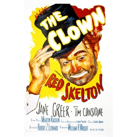 The Clown Us Poster Art Red Skelton 1953 Movie Poster - Clown The Movie