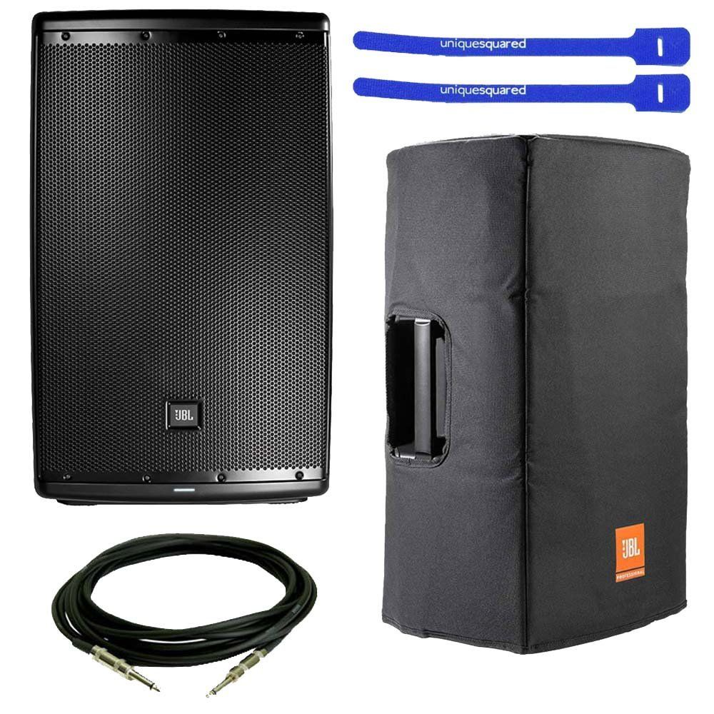 "JBL EON615 Powered 15"" 2-Way System Speaker w  Padded Cover, XLR Cable & Cable Ties by JBL"