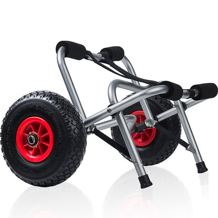 Boat Wheel - OxGord Kayak Dolly Boat Canoe Trolley Tote Cart Transport Carrier With Wheels