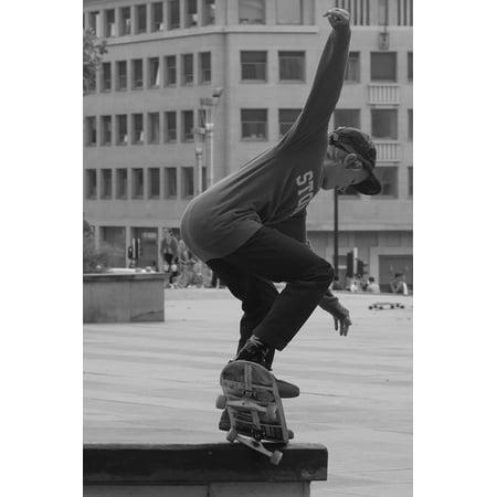 LAMINATED POSTER Jump Skating Sports Pet People Man Skateboard Poster Print 24 x