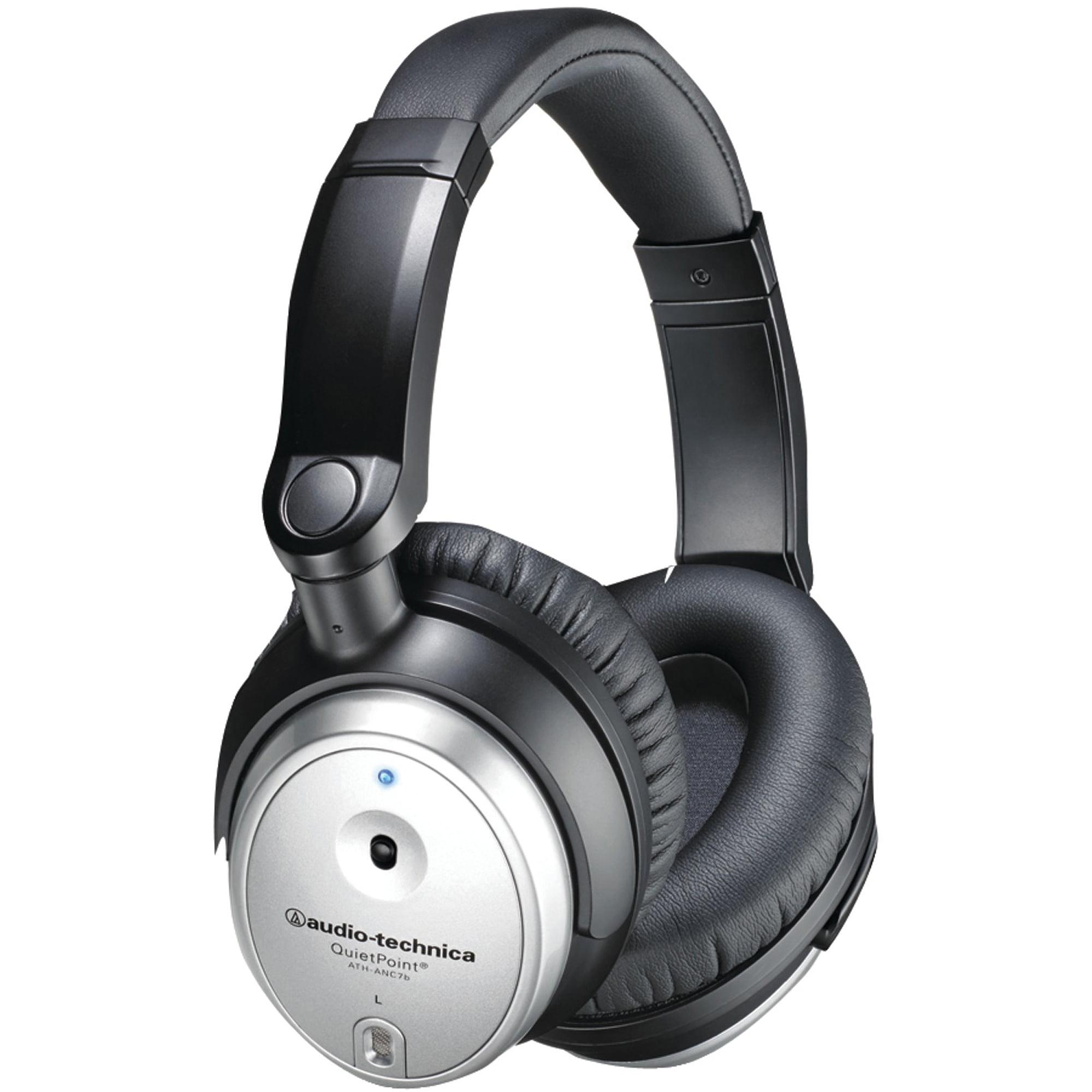 Audio-Technica Active Noise-Cancelling Headphones, ATH-ANC7BSVIS