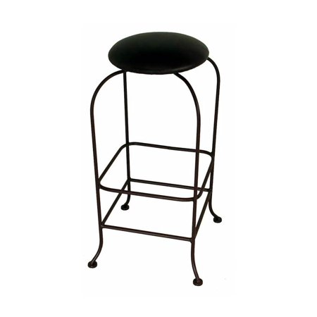 Designer Swivel Backless Bar Stool Counter Texas Hold Em 24 In Aged Iron