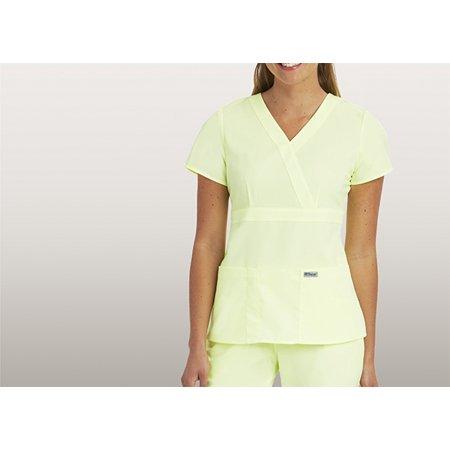 Greys Anatomy Womens Junior Fit Mock Wrap Nurse Scrub Top 4153