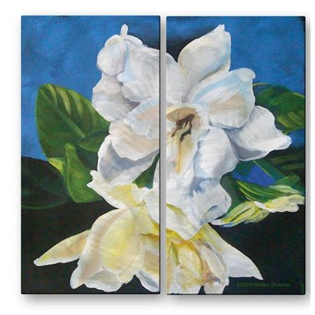 All My Walls 'Gardenias' by Shelley Overton 2 Piece Painting Print Plaque Set