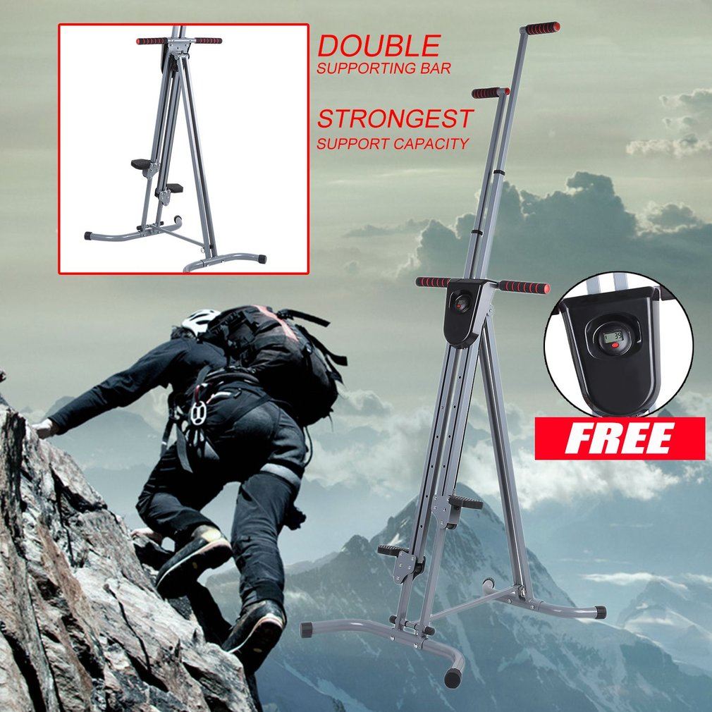 Foldable Vertical Climber Cardio Machine Exercise Training Stepper Fitness Workout Gym Home Climbing Equipment