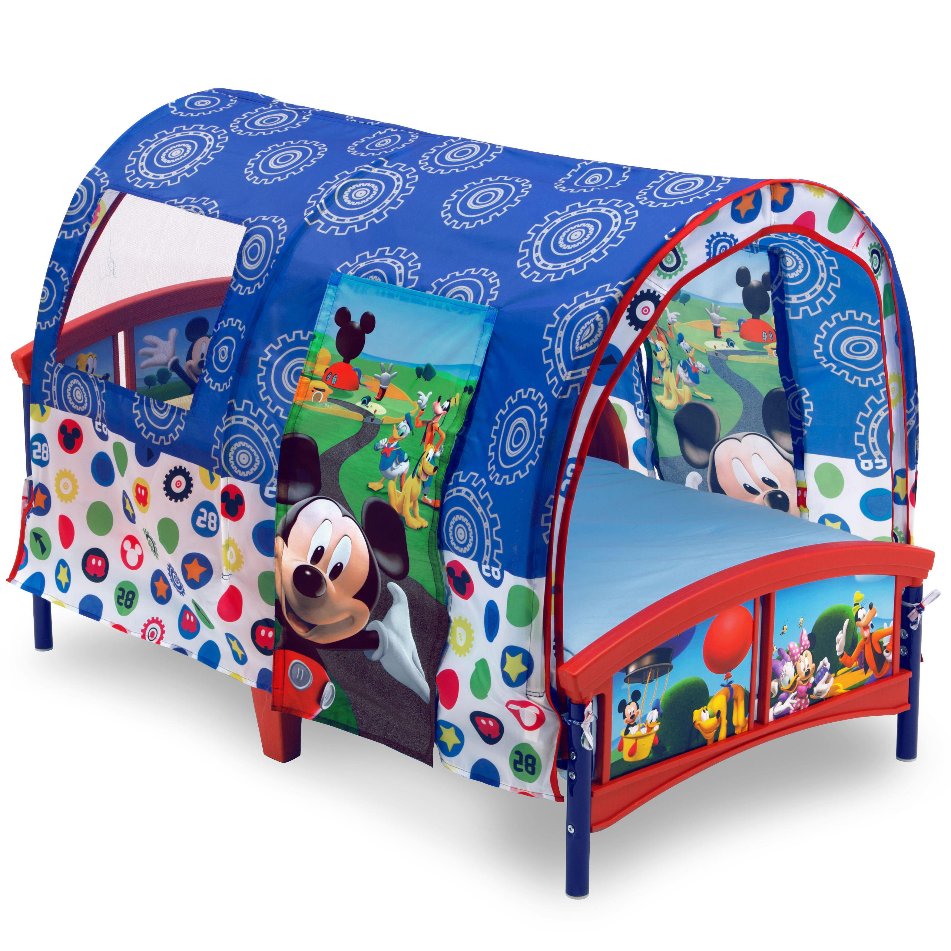 Delta Children Disney Mickey Mouse Plastic Toddler Canopy Bed, Blue