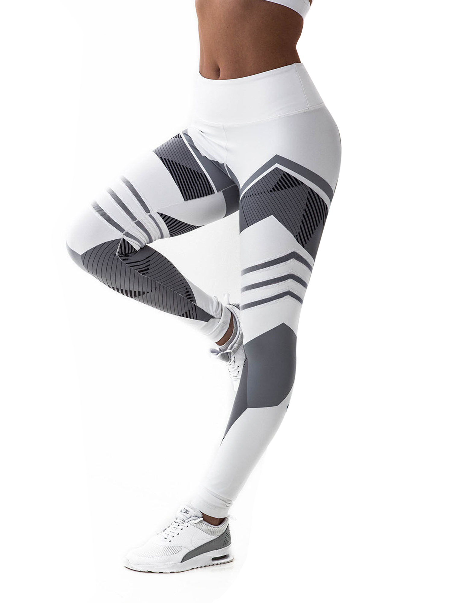 High Waist Leggings XS-XL All-Over Print Blue Pattern Blue Star Yoga Leggings Gym Workout Fitness