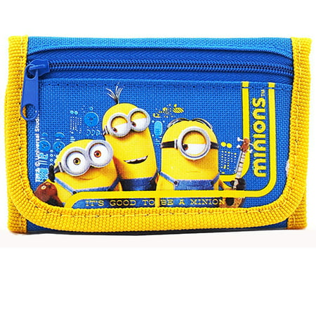 Despicable Me Minions Character Blue Trifold Wallet