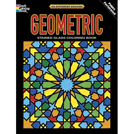 Dover Coloring Books: Geometric Stained Glass Coloring Book (Paperback)