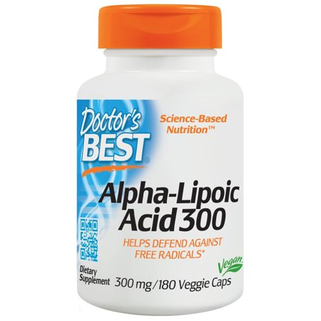 Doctor's Best - Alpha Lipoic Acid 300 mg. - 180 Vegetarian Capsules Doctors Choice Antioxidant