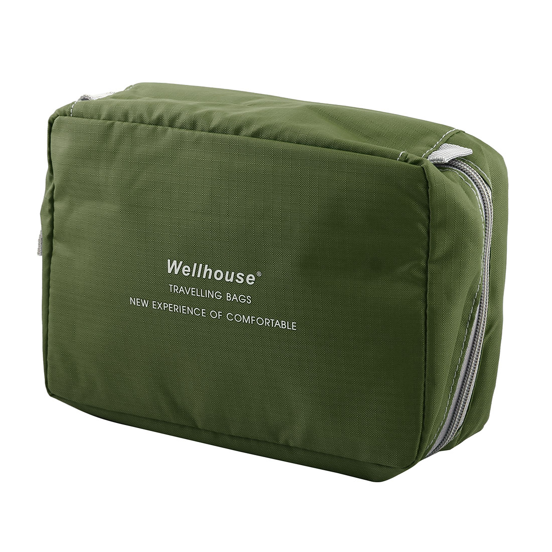 Wellhouse Authorized Laundry Storage Pouch Travel Wash Bag Army Green