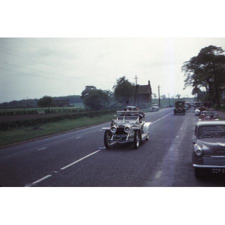 Silver Ghost Rolls Royce at Rally, Cheshire, England, c1960 Print Wall Art By CM (Rally Roll)