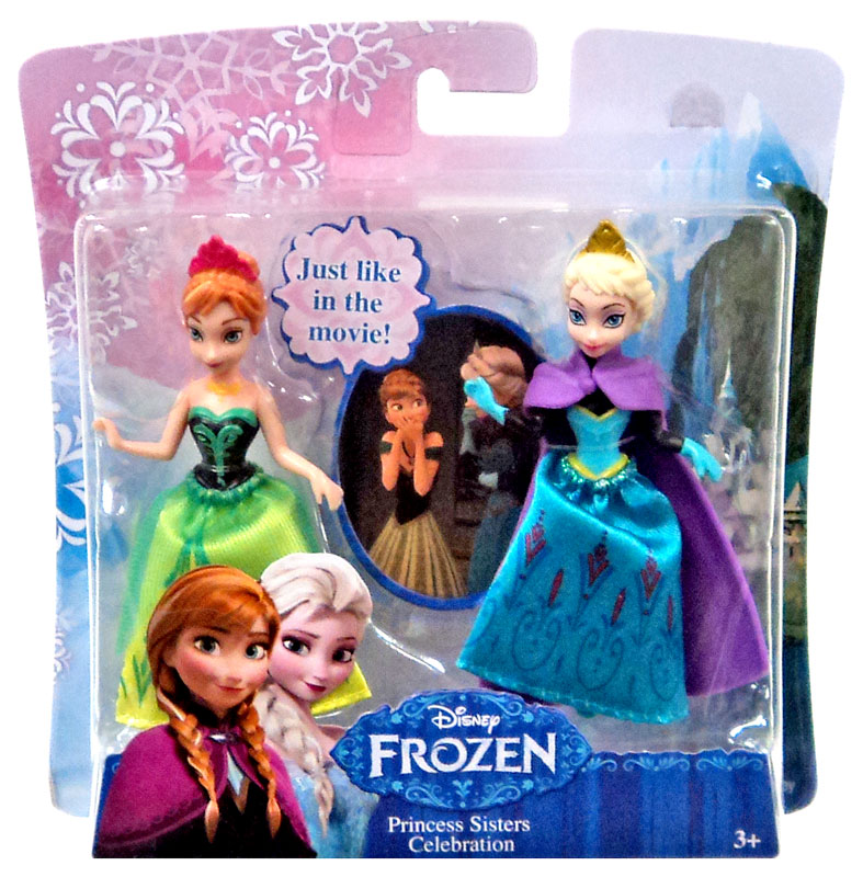 Disney Frozen Princess Sisters Celebration Mini Figure 2-Pack [Anna & Elsa] MAT-DFR78-FBA