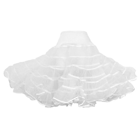 Red Crinoline Petticoat Slip (Adult White - 50's Crinoline Petticoat Slip - XS/S )
