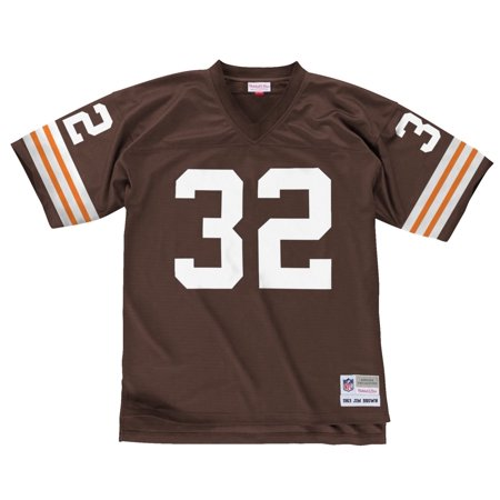 Jim Brown Cleveland Browns Mens NFL Mitchell & Ness Premier Brown Jersey by