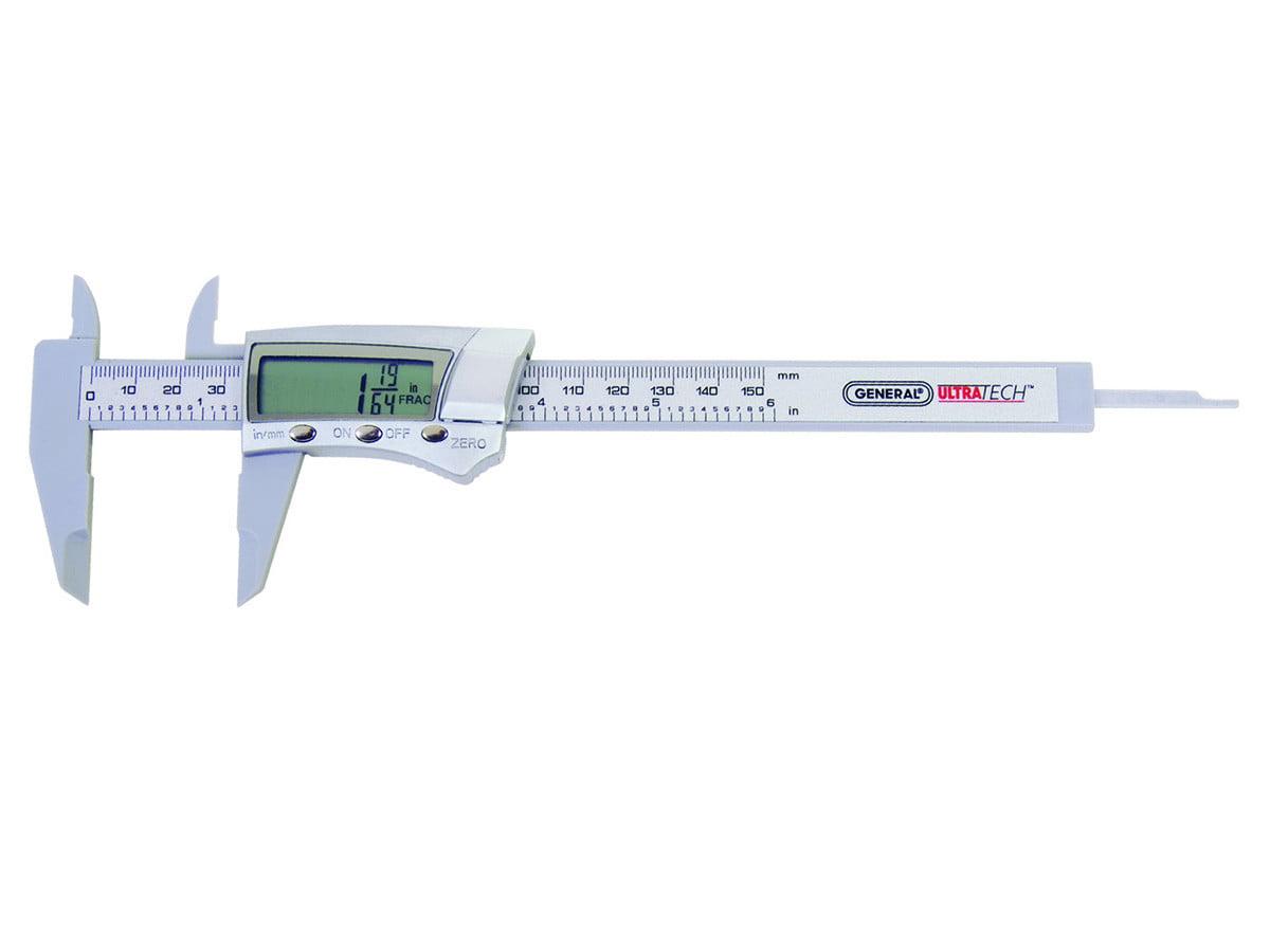 General Tools 1433 Fraction Plus Digital Fractional Caliper Carbon Fiber 3-Inch