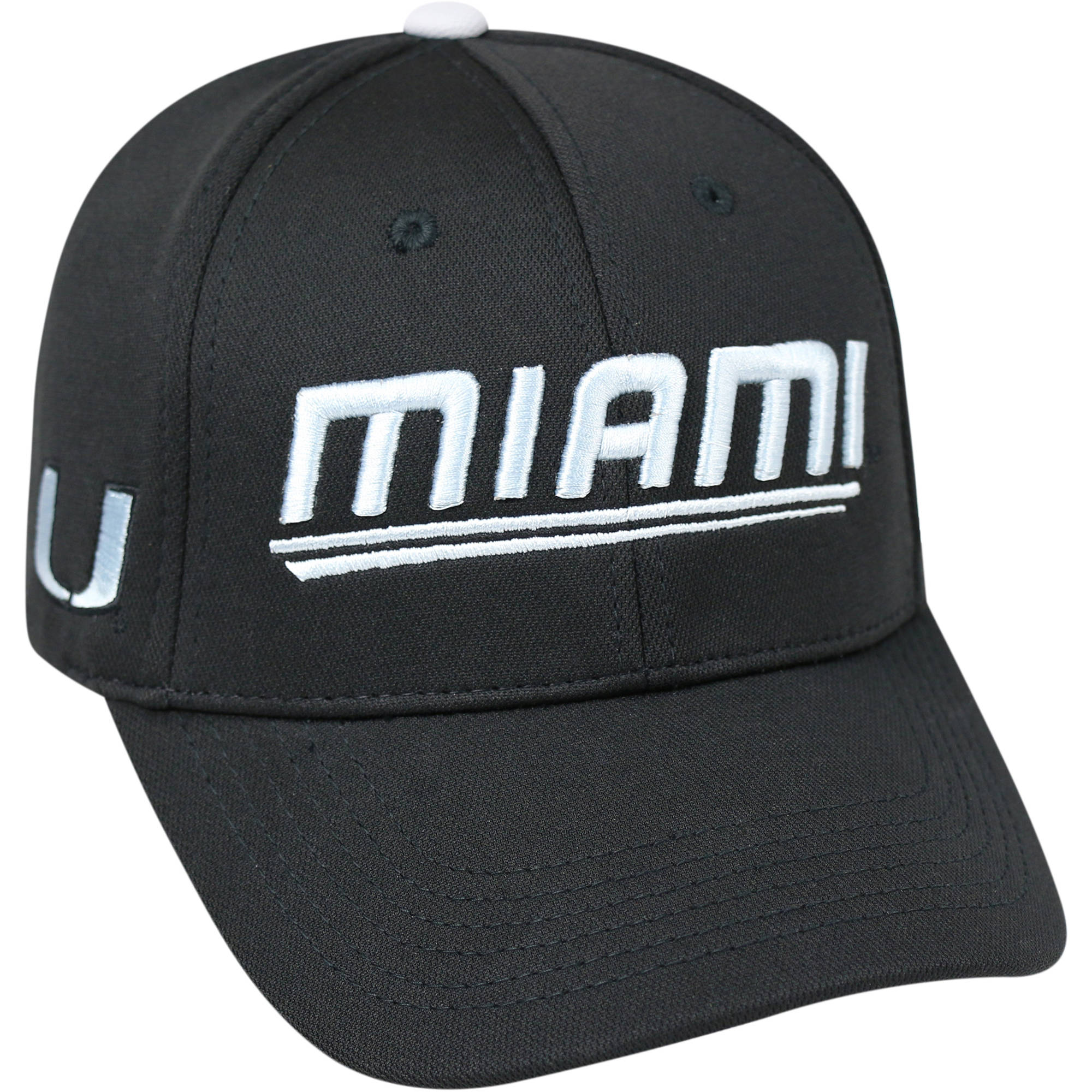 University Of Miami Hurricanes Black Baseball Cap