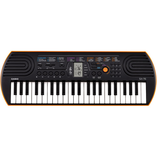 Casio SA-76 44-Key Mini Personal Keyboard 100 Tones by Casio