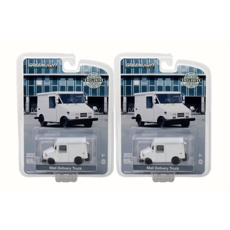 Box of 12 Diecast Model Cars - Long Live Undecorated Mail Delivery Truck, White, 1/64 (Live Car)