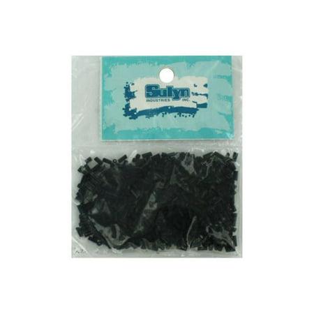 Bulk Buys CC686-25 Black Bugle Beads - Pack of 25](Beads Bulk)