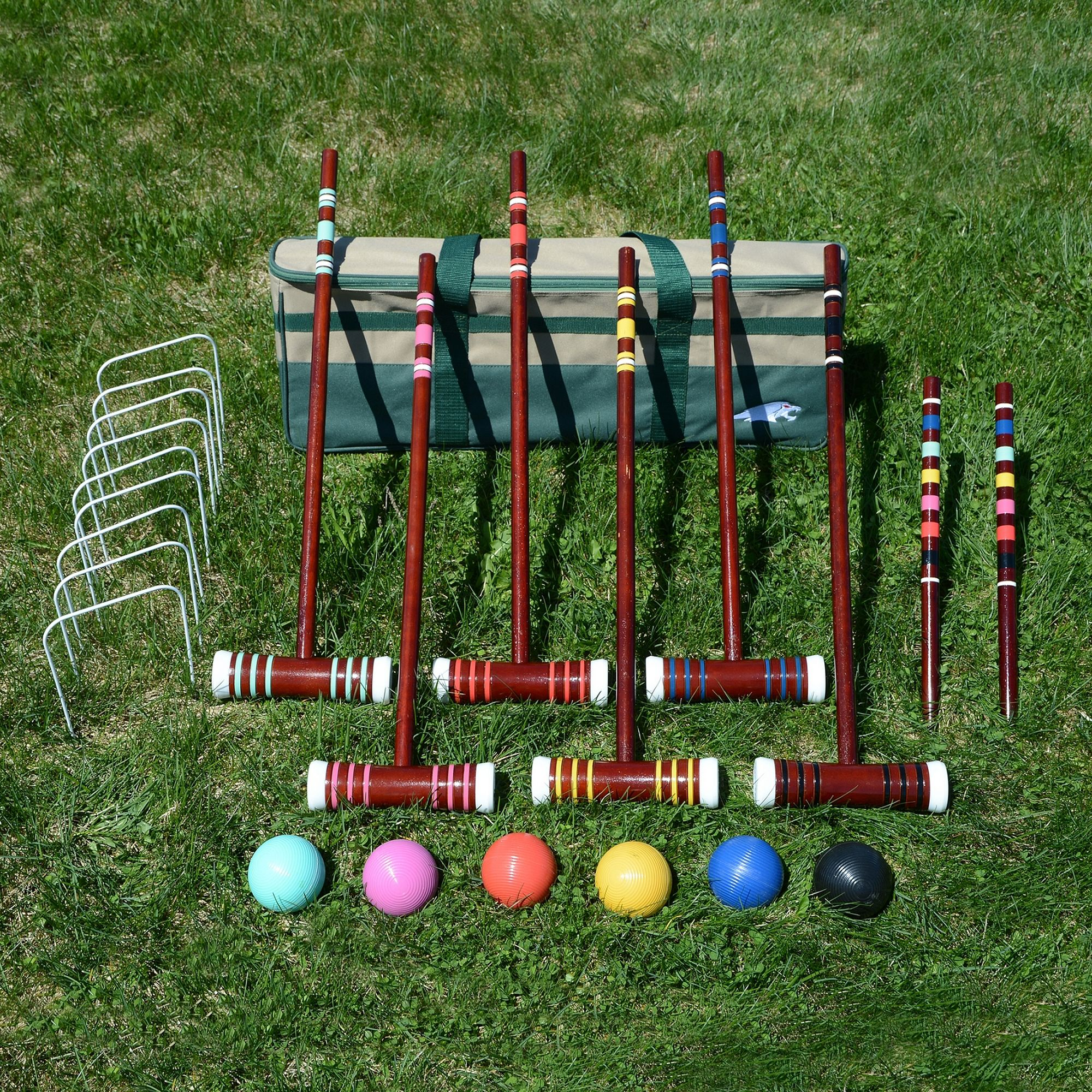 "Lion Sports 6-Player Family 24"" Croquet Set"