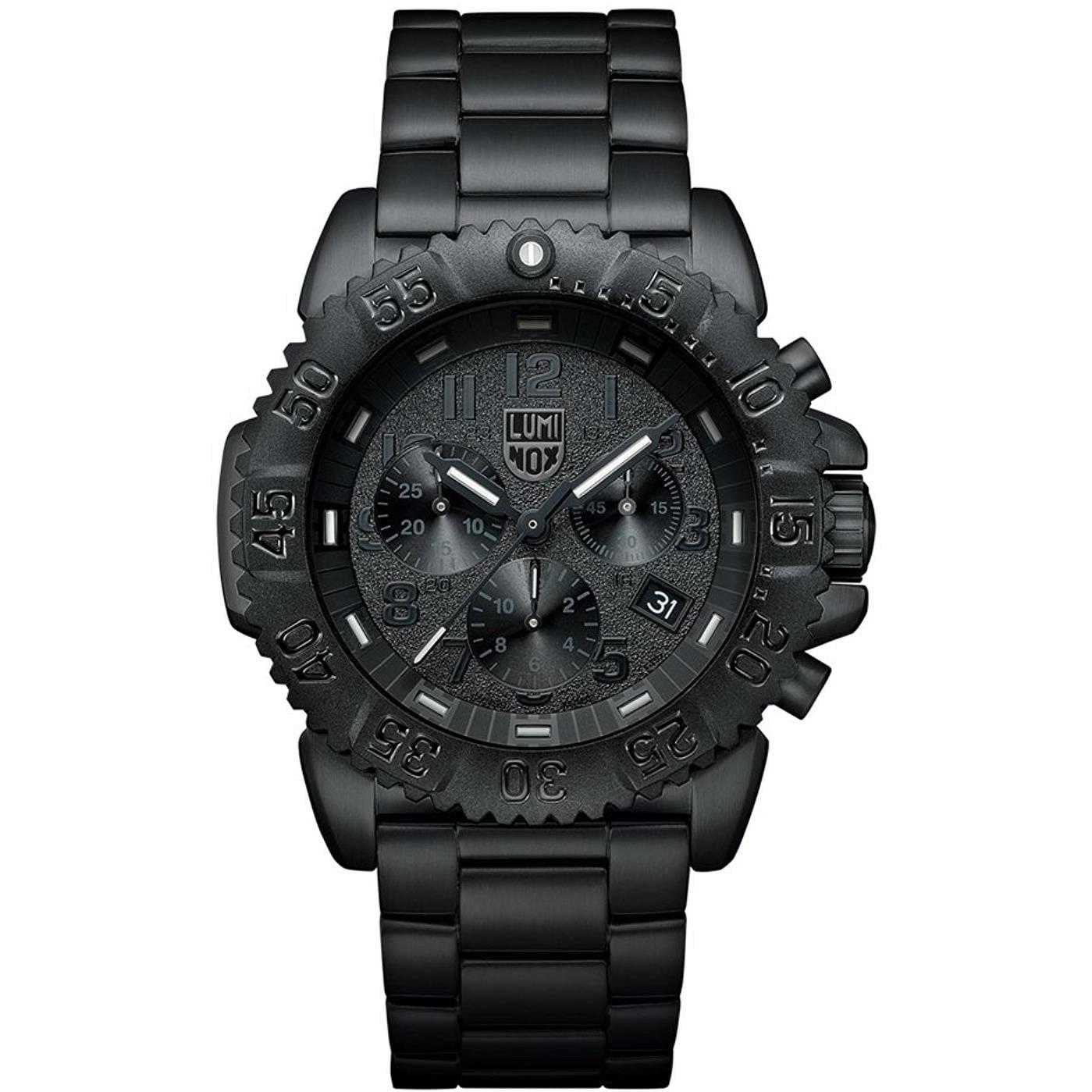 Luminox Men's 45mm Black Steel Bracelet & Case Swiss Quar...