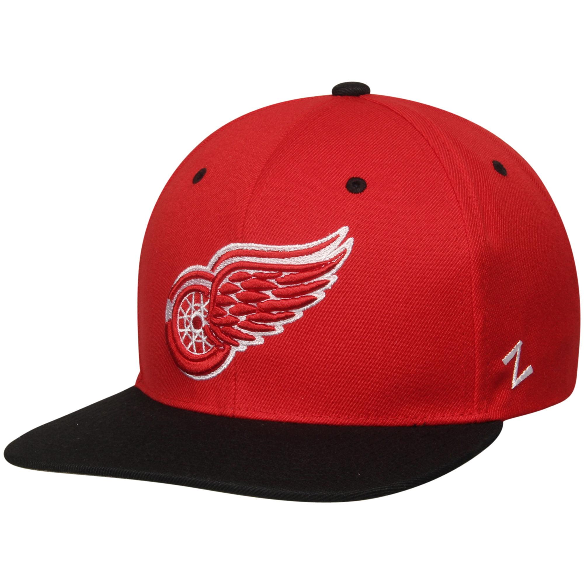 Detroit Red Wings Zephyr Z11 Snapback Adjustable Hat - Red/Black - OSFA