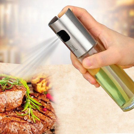 WZ-NORBI Olive Oil Vinegar Cooking Seasoning Leak-proof Bottle Stainless Steel Bottle Glass Honey Oil Pot Barbecue Spray Kitchen