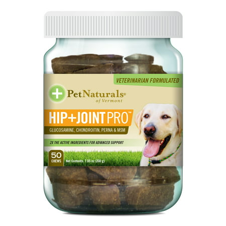 Pet Naturals Of Vermont Hip   Joint Pro  Daily Hip And Joint Supplement For Large Dogs  50 Bite Sized Chews