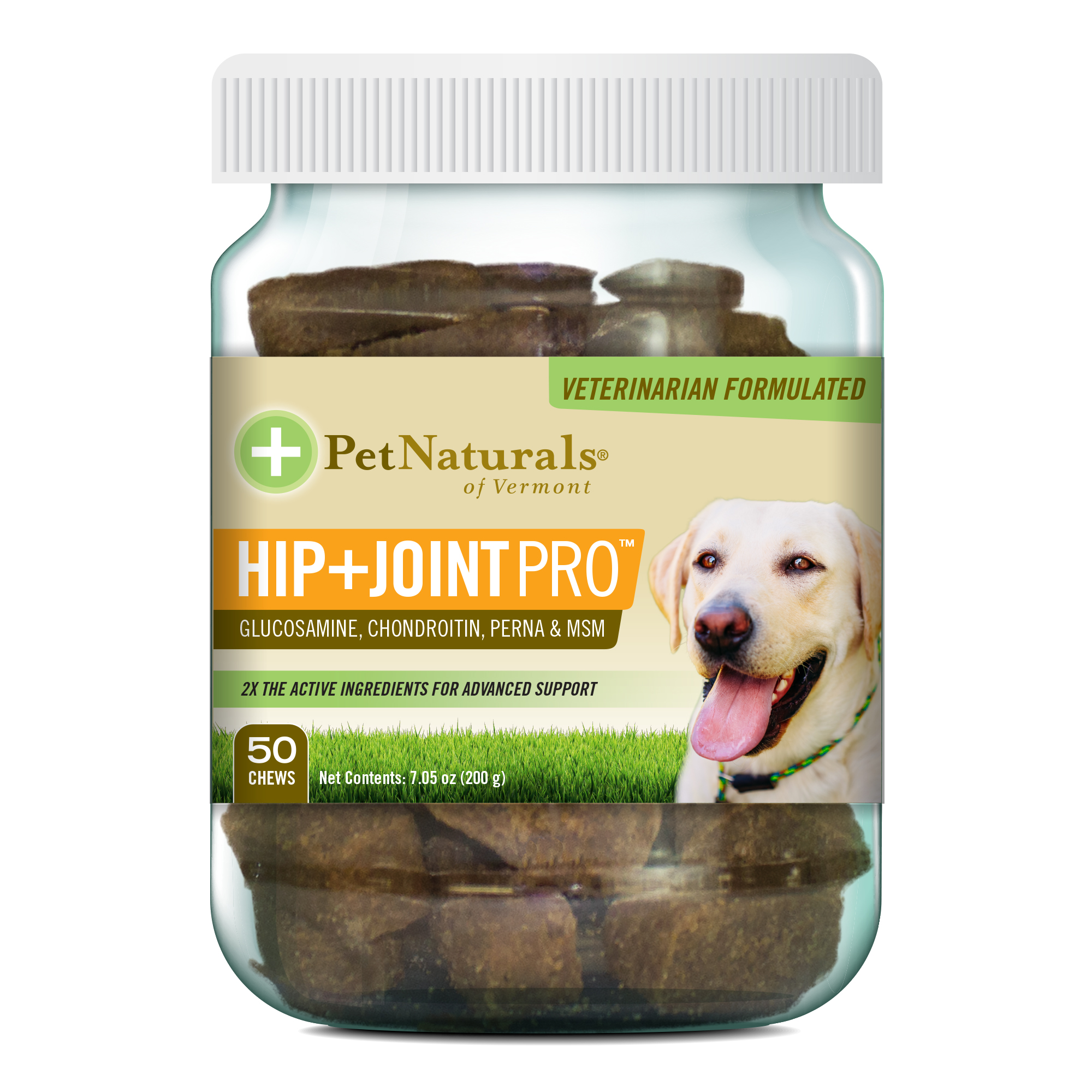 Pet Naturals of Vermont - Hip + Joint PRO, Daily Hip and Joint Supplement for Large Dogs, 50 Bite-Sized Chews