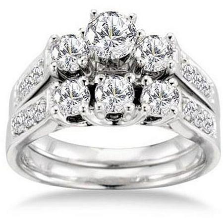 Keepsake Royal 1 2 Carat T W Certified Diamond 14kt White Gold Bridal Set