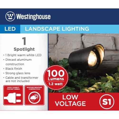 Westinghouse Die-cast Aluminum Warm White LED Pathway & Stake Spotlight (Black)