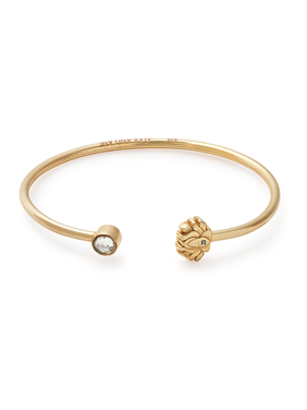 Lotus Peace Petals Cuff Bracelet 14Kt Gold Plated