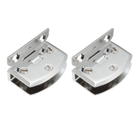 Zinc Screen Door Hinge - 2 Pcs Zinc Alloy Cabinet Glass Door Wall Mounting Hinge for 8-10mm Glass