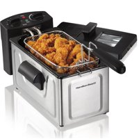 Hamilton Beach 8 Cup Fast Cooking Stainless Steel Deep Fryer with Lid