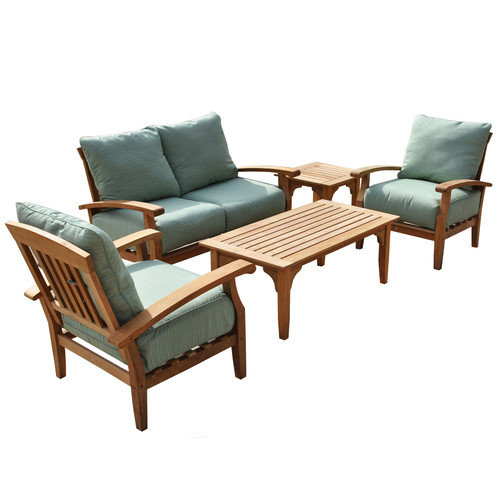 Wildon Home  McGrath Outdoor Sofa 5 Piece Bench Seating Group with Cushion