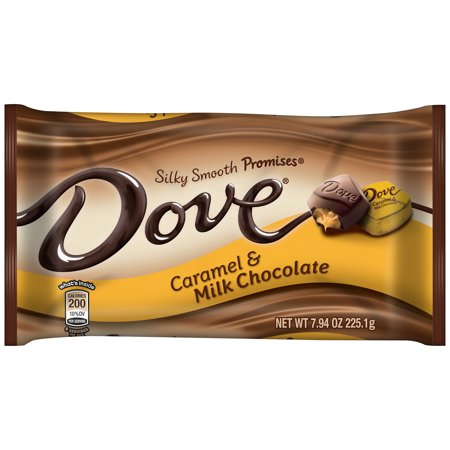 - Dove Silky Smooth Promises Caramel and Milk Chocolate Candy, 7.94 Oz.